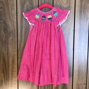 Smocked Cupcake Party Dress